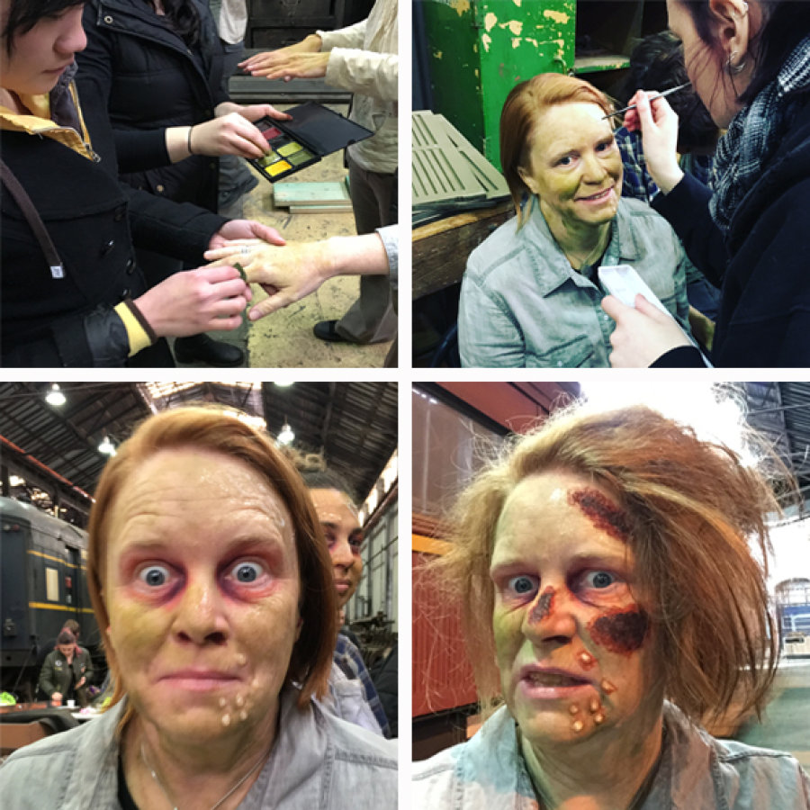 From mild-mannered journalist to raging zombie in 45 minutes.