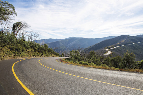 Great Alpine Road on Mount Hotham