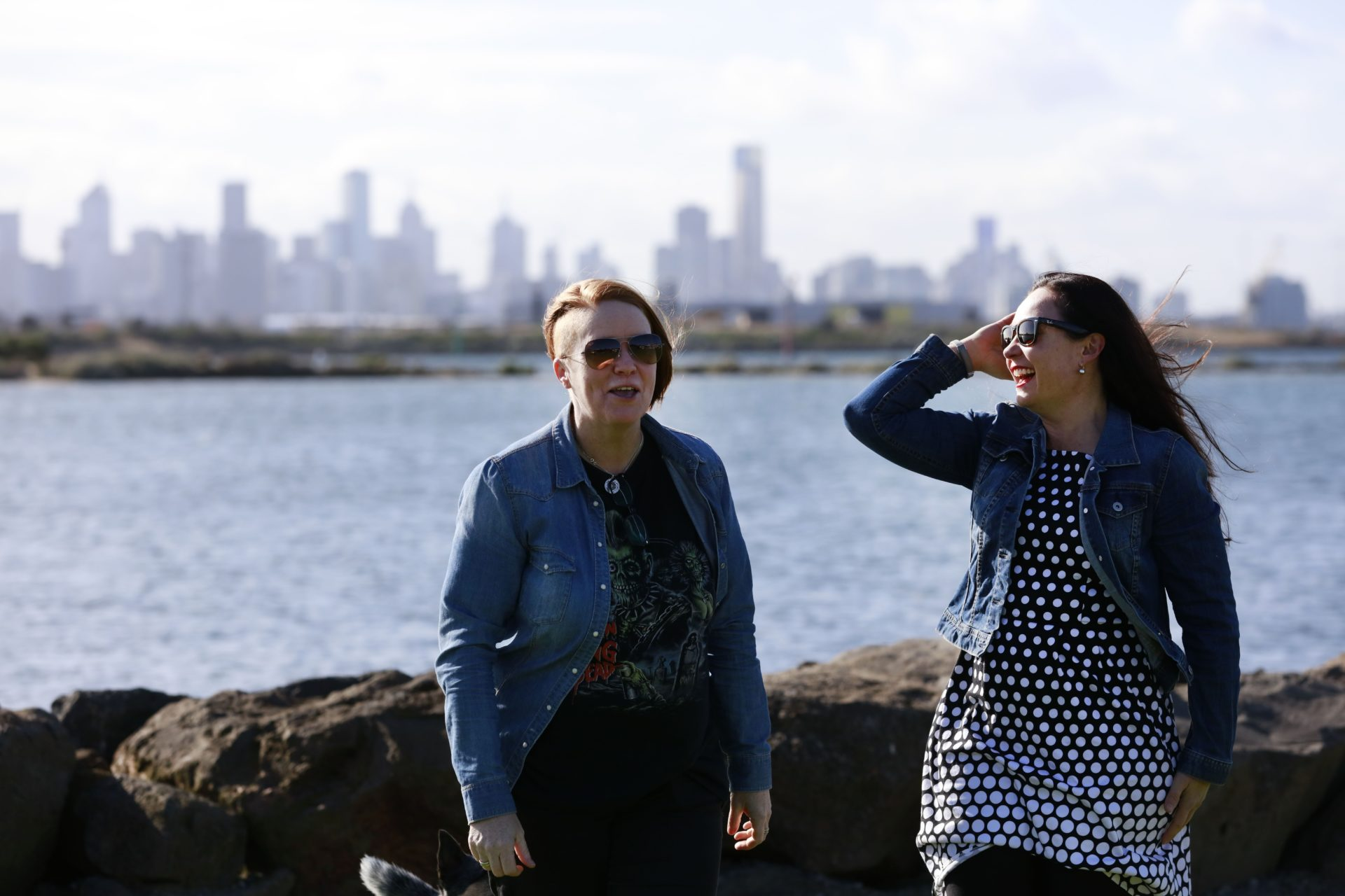 Andrea and Cathy Ginger Brown Melbourne Scenery