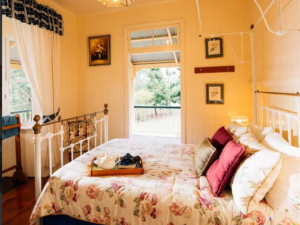 One of the country comfy bedrooms at Mount Barney Lodge. Picture: Mount Barney Lodge. Source: NCA NewsWire